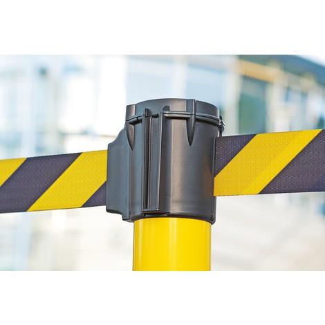 Varningsstolpe med band