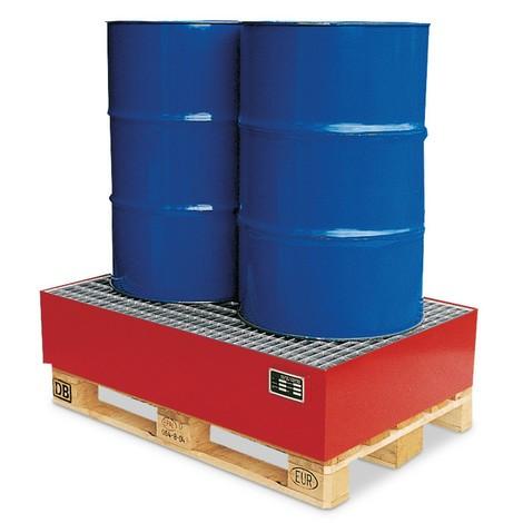 Vasca di appoggio per europallet o pallet per il settore chimico