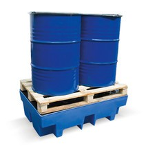 Vasca di raccolta in PE incl. tasche per carrelli elevatori