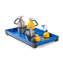 Vasca in acciaio per piccoli contenitori, altezza 95 mm