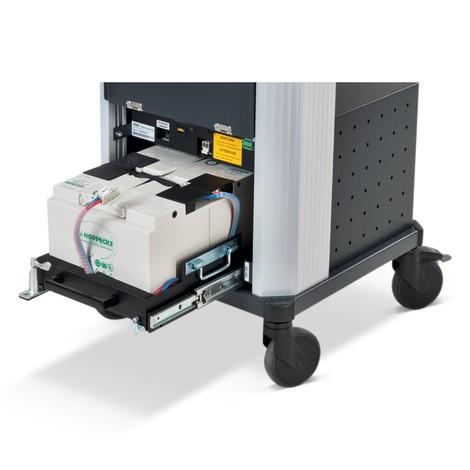 Vaschetta di cambio batteria da 1.200 W per spazio di lavoro mobile Jungheinrich