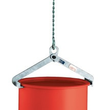 Vatenklem voor staande vaten, capaciteit 500 kg