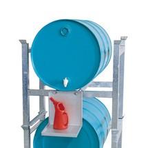 Vatenstelling RF, staal. Voor 200 of 600 liter vaten