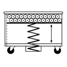 Veerbodemwagen van aluminium, volume tot 615 liter