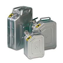 Veiligheids-jerrycan van roestvrij staal met doseerder, 5 - 20 liter