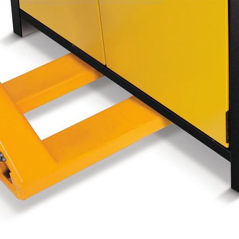 Veiligheidsgarderobe asecos® Q-Pegasus/Type 90, 3 planken, HxBxD 1.955 x 600 x 615 mm