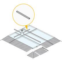 Verbindungsprofile Flachwanne, für Seite 500 - 2500mm