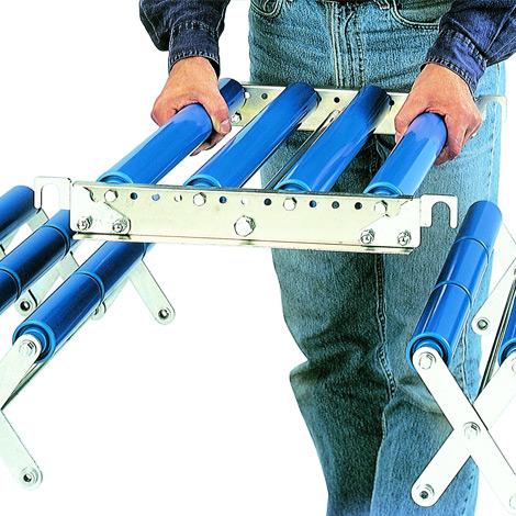 Verbindungsstücke für Scheren-Rollenbahnen. Breite bis 600 mm