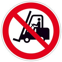 Verbodsbord Verboden voor interne transportmiddelen