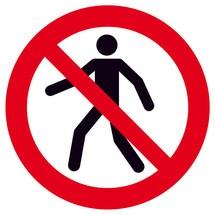 Verbodsbord Verboden voor voetgangers