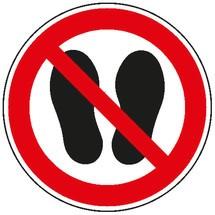 Verbotsschild – Betreten der Fläche verboten