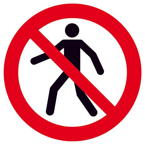 Verbotsschild Für Fußgänger verboten