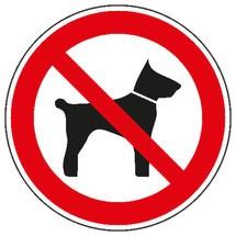 Verbotsschild – Mitführen von Tieren verboten
