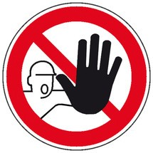 Verbotsschild – Zutritt für Unbefugte verboten