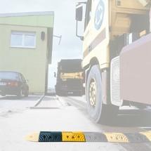 Verkeersdrempel van rubber