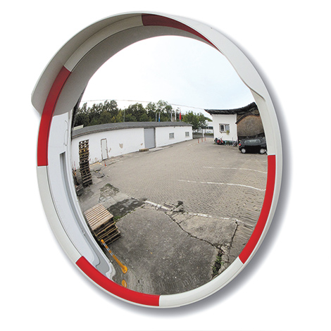 Verkehrsspiegel. Ø bis 800 mm, Rahmen rot/weiß
