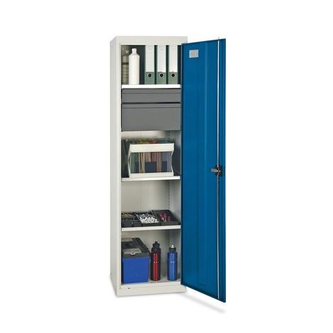 Verkstadsskåp från stumpf® med dubbeldörrar och utdragbara lådor