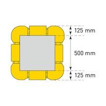 Verlengingselement voor aanrijbescherming voor kolommen, flexibel