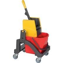 VERMOP Reinigungswagen, 1 x 17 l und Presse Kunststoff