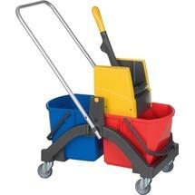 VERMOP Reinigungswagen, 2 x 17 l und Presse Kunststoff
