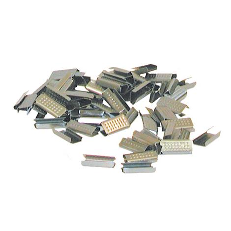 Verschlusshülsen für Stahlband. Breite 16 mm