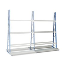 Vertical rack, double-sided, add-on unit
