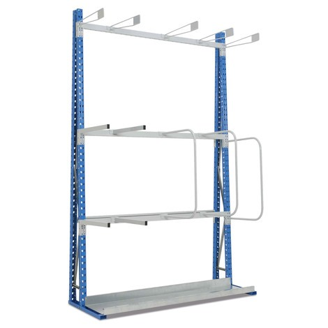 Vertical rack, single-sided, base unit