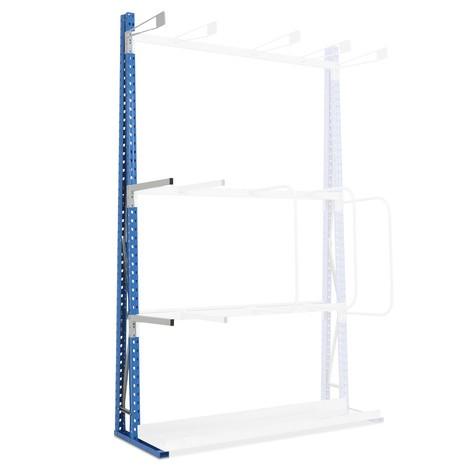 Vertical separating bracket for vertical rack