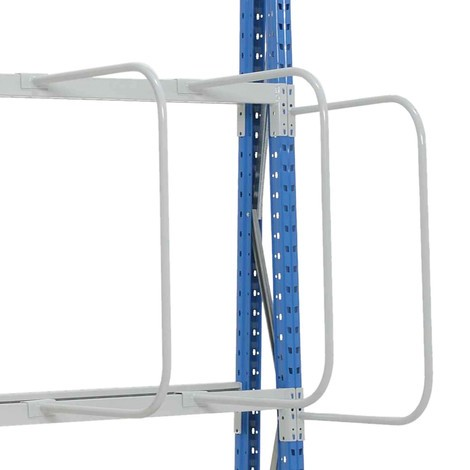 Vertical separating bracket for vertical rack