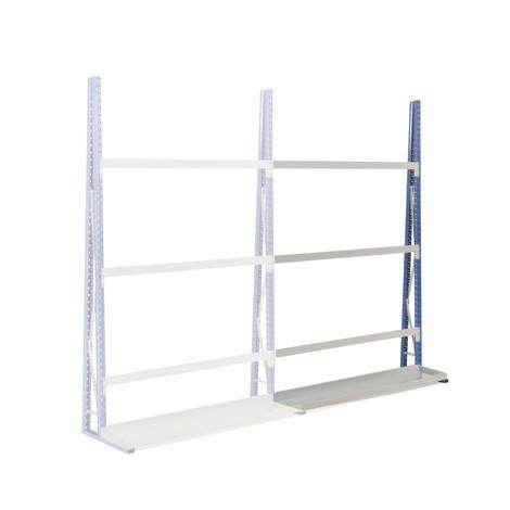 Vertikal reol, enkeltsidet, tilbygningssektion