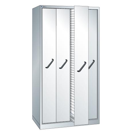 Vertikalauszugschrank, 1950x1000x695mm, Lochwänden, 4 Auszüge