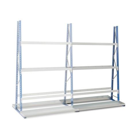 Vertikalhylla, dubbelsidig, påbyggnadssektion