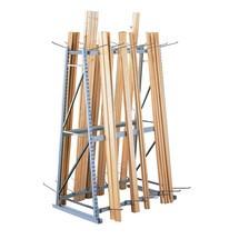 Vertikalhylla META, dubbelsidig, påbyggnadssektion