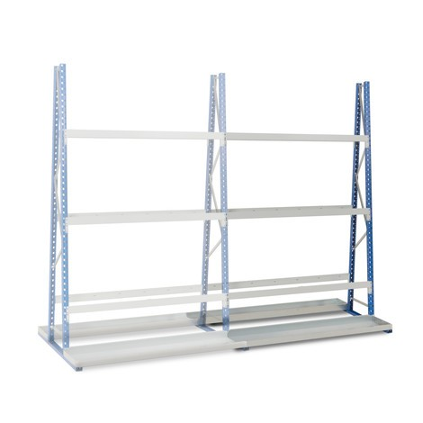 Vertikální regál, oboustranný, přídavné pole