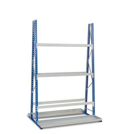Vertikální regál, oboustranný, základní pole