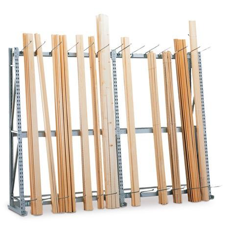 Vertikálny regál META, jednostranný, prídavné pole