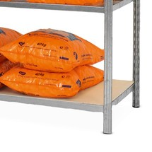 Verzinkt legbord voor legbordstelling, met spaanplaten
