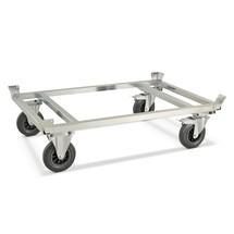 Verzinkte palletonderwagen met vanghoeken. Capaciteit 800 kg