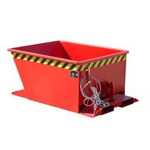 Vippecontainer til rutehejs, malet
