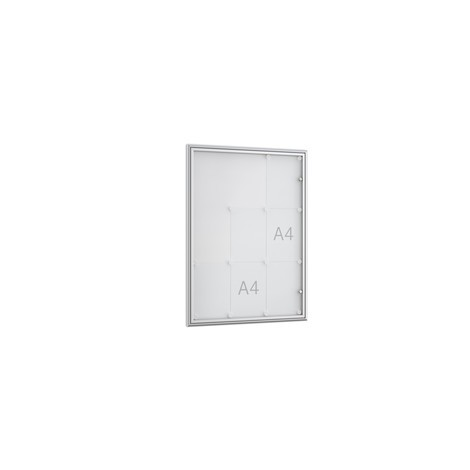 Vitrine met geheel glazen draaideur. 10 mm diep