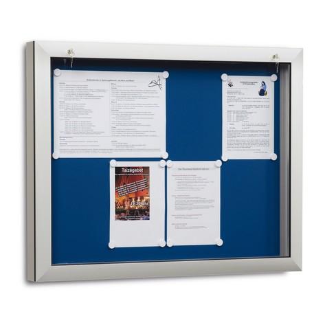 Vlakke vitrines met acrylbeglazing, 65 mm diep, verlichting mogelijk ...