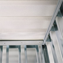Vliesbeschichtung für Materialcontainer mit Flügeltüren