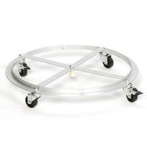 Vloerbevestiging voor kringloop afvalbak VAR®, 120 liter, dubbele draaideur