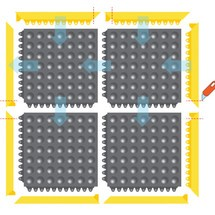 Vloerplaat, insteeksysteem voor laswerkplekken