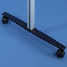 Vloerstaander voor schuifdeur-vitrine, incl. wielen