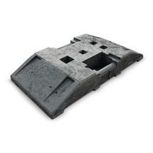Voetplaat van gerecycled materiaal, lxb 800 x 400 mm