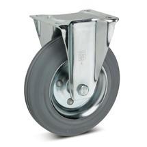 Volrubb. bokwielen Premium, niet-strepend. Staalplaatvelg. Capaciteit 50- 205 kg