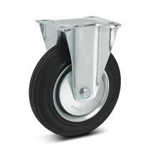 Volrubberen bokwielen Premium. Staalplaatvelg. Capaciteit 50- 205 kg