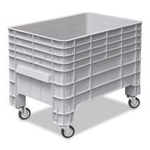 Volumebox, vier wielen + handgreep. Afmetingen 1030 x 630 x 790 mm