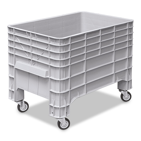 Volumenbox, 4 Rollen + Griffmulde. Maß 1030 x 630 x 790 mm